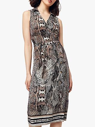 65027cc489b1 Oasis Snakeskin Mock Wrap Dress