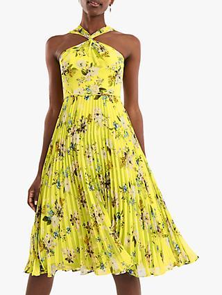 705b460b4fa Oasis Daisy Haze Cross Strap Pleated Midi Dress