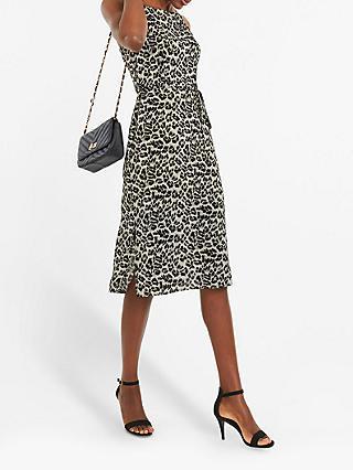 fa396be8703 Oasis Animal Print Square Neck Dress