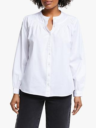 865c53fc22b1 Collection WEEKEND by John Lewis Smocked Cotton Poplin Shirt, White