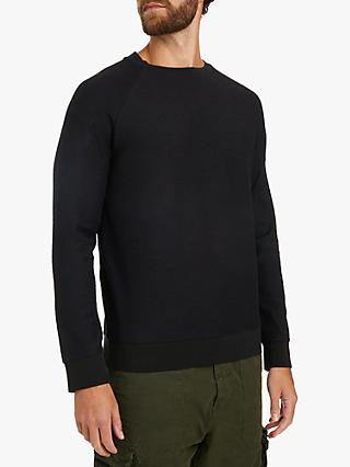 BOSS Waldo Crew Neck Sweatshirt, Black