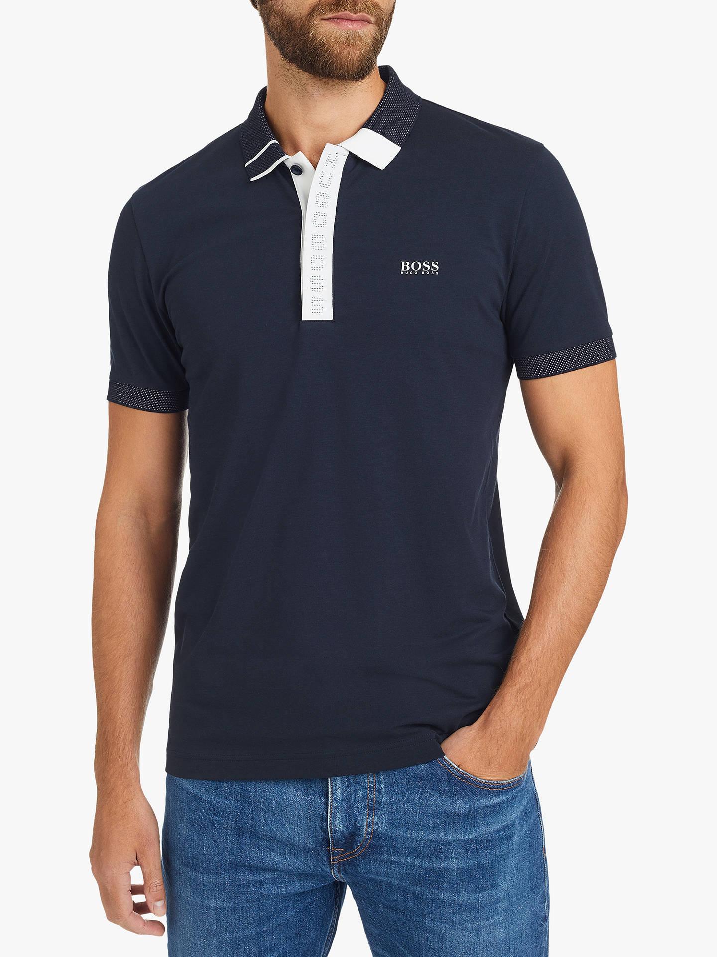 5f301ccae Buy BOSS Paule 2 Polo Shirt, Navy, XL Online at johnlewis.com ...