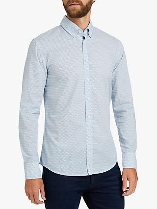 5254d719 BOSS Mabsoot Carabiner Print Slim Fit Shirt, White