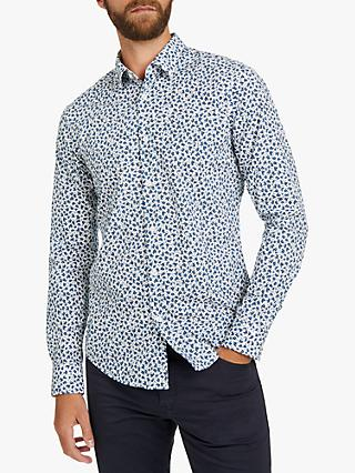 1900dae7def BOSS Ronni Abstract Slim Fit Cotton Shirt