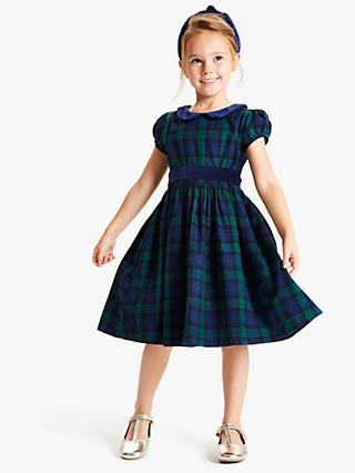 John Lewis & Partners Heirloom Collection Girls' Check Dress