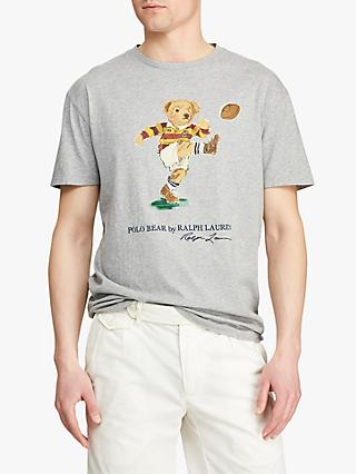 Polo Ralph Lauren Rugby Bear T-Shirt, Andover Heather