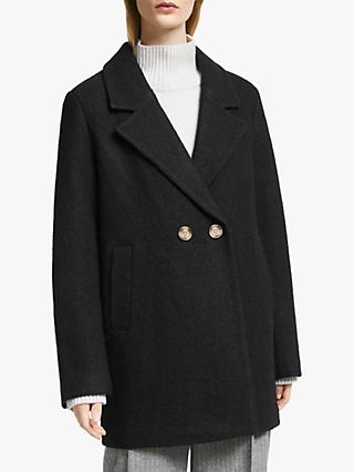 John Lewis & Partners Textured Pea Coat
