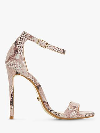 Dune Moxie Stiletto Heel Sandals, Pink Leather