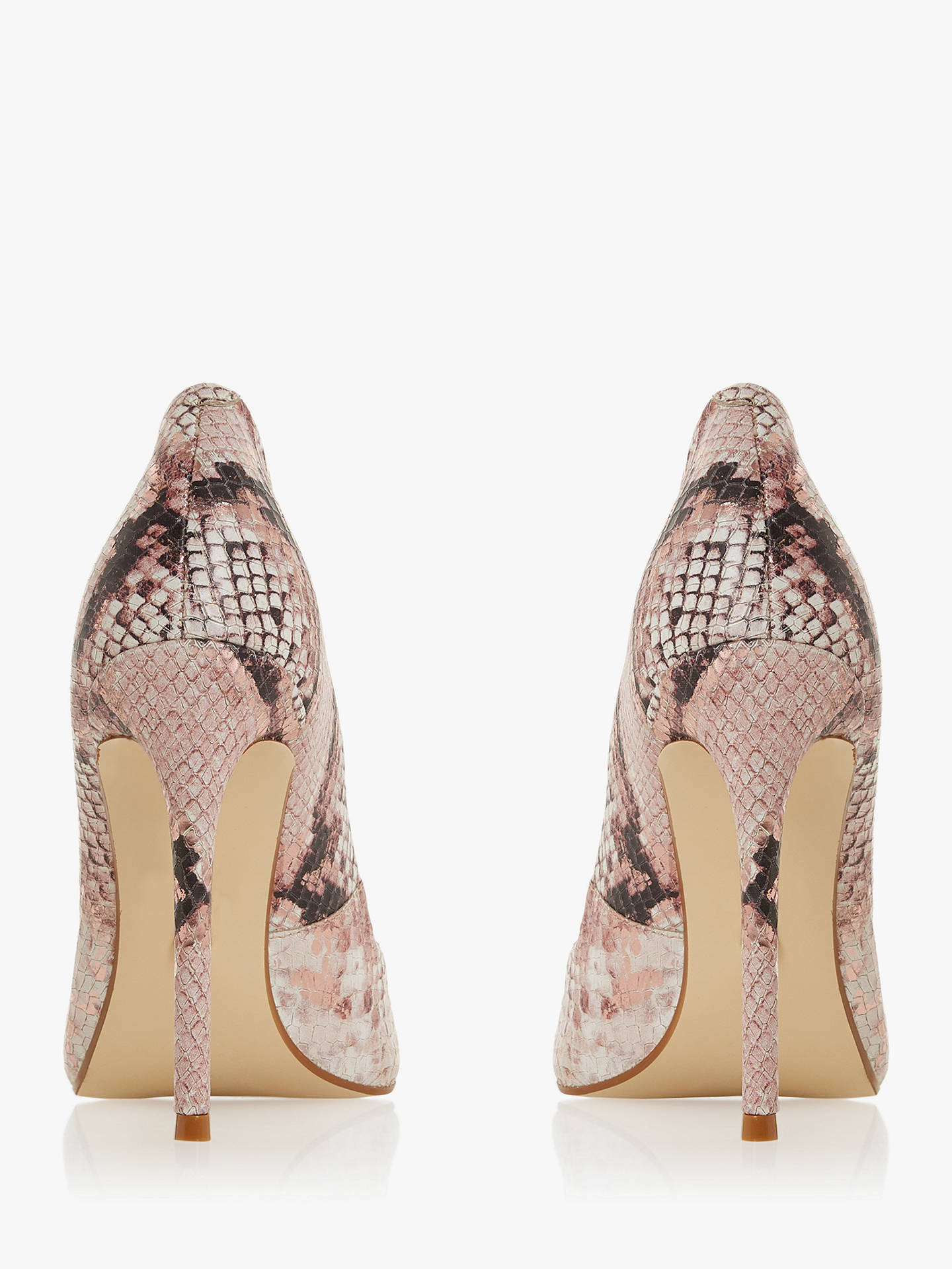 99446619af ... Buy Dune Banksy Stiletto Court Shoes, Pink, 5 Online at johnlewis.com