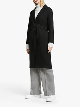 John Lewis & Partners Wrap Boucle Textured Coat