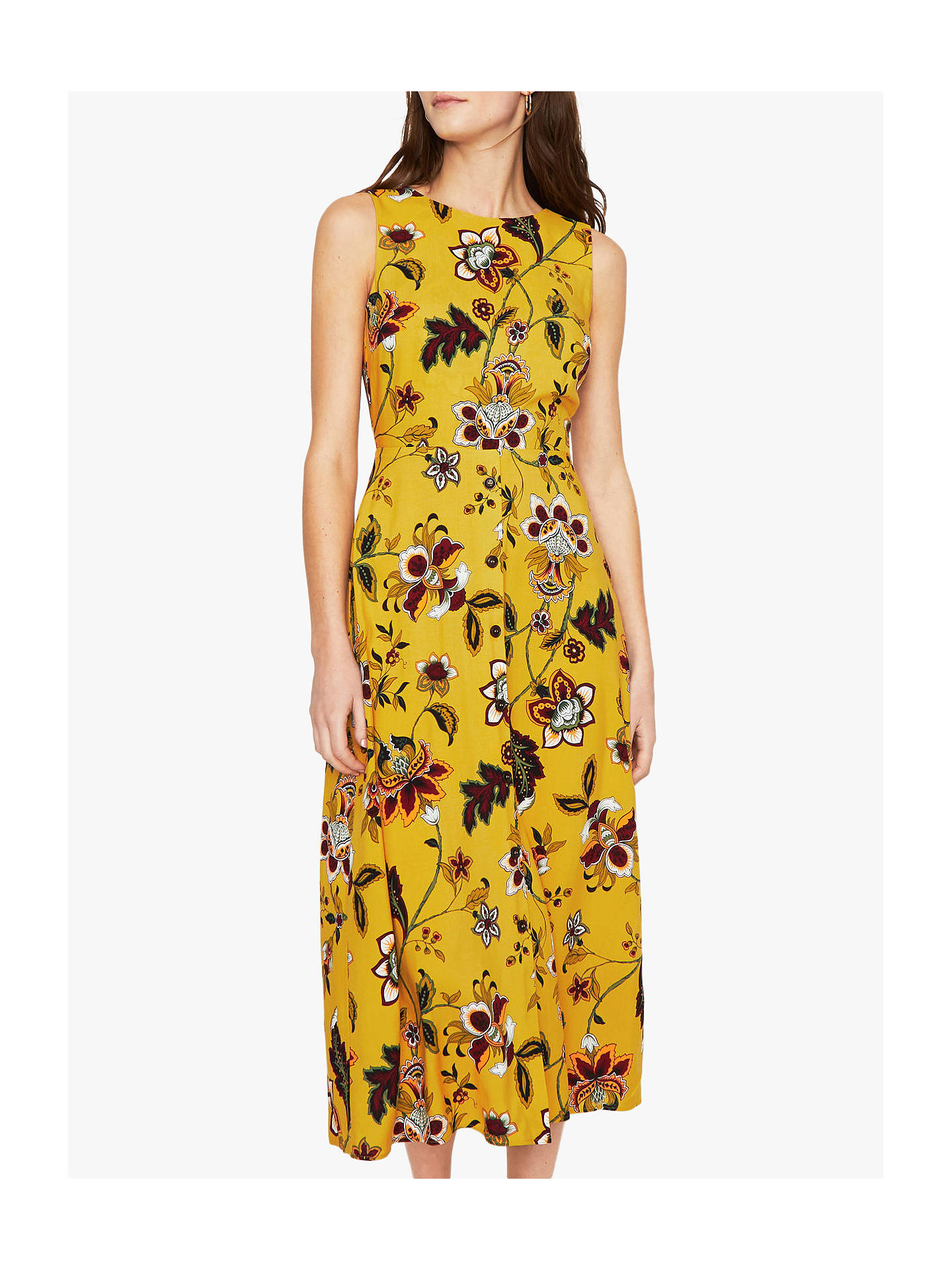 a6fbeced0217 Buy Warehouse Paisley Floral Midi Sleeveless Dress