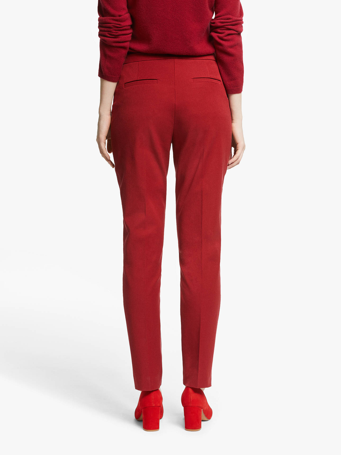 Buy John Lewis & Partners Dionne Trousers, Burgundy, 8 Online at johnlewis.com