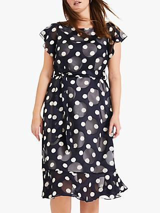 Studio 8 Viviana Spot Midi Dress, Navy