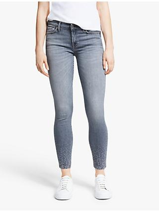 7 For All Mankind The Skinny Slim Illusion Crystal Crop Jeans, Grey