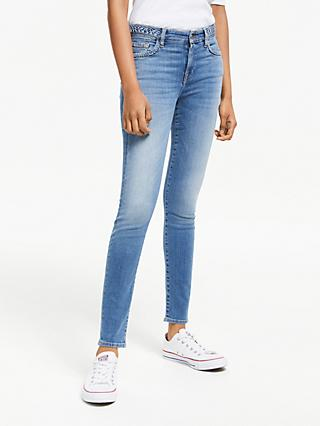 7 For All Mankind Skinny Slim Illusion Jeans, Light Blue