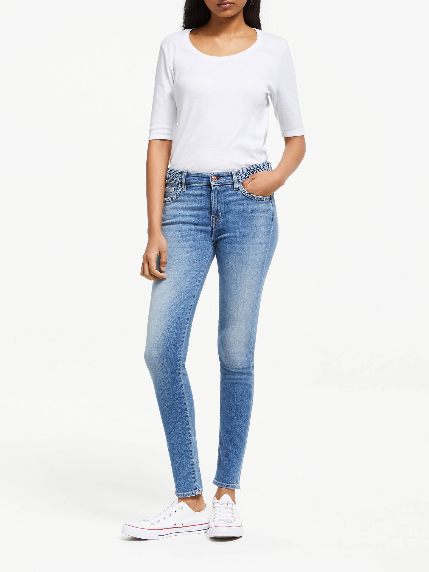 Buy 7 For All Mankind Skinny Slim Illusion Jeans, Light Blue, 24 Online at johnlewis.com