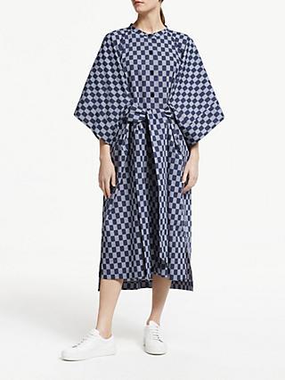 ffb1f544560d Kin Seiji Printed Tie Front Dress