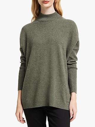 John Lewis & Partners Cashmere Deep Funnel Neck Jumper