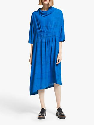 Kin Ena Shirred Dress, Blue