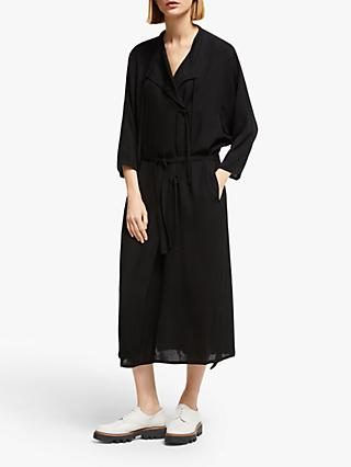 Kin Tie Wrap Dress, Black