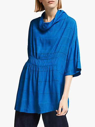 Kin Ena Shirred Top, Blue
