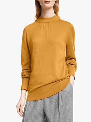 John Lewis & Partners Gathered Turtle Neck Jumper