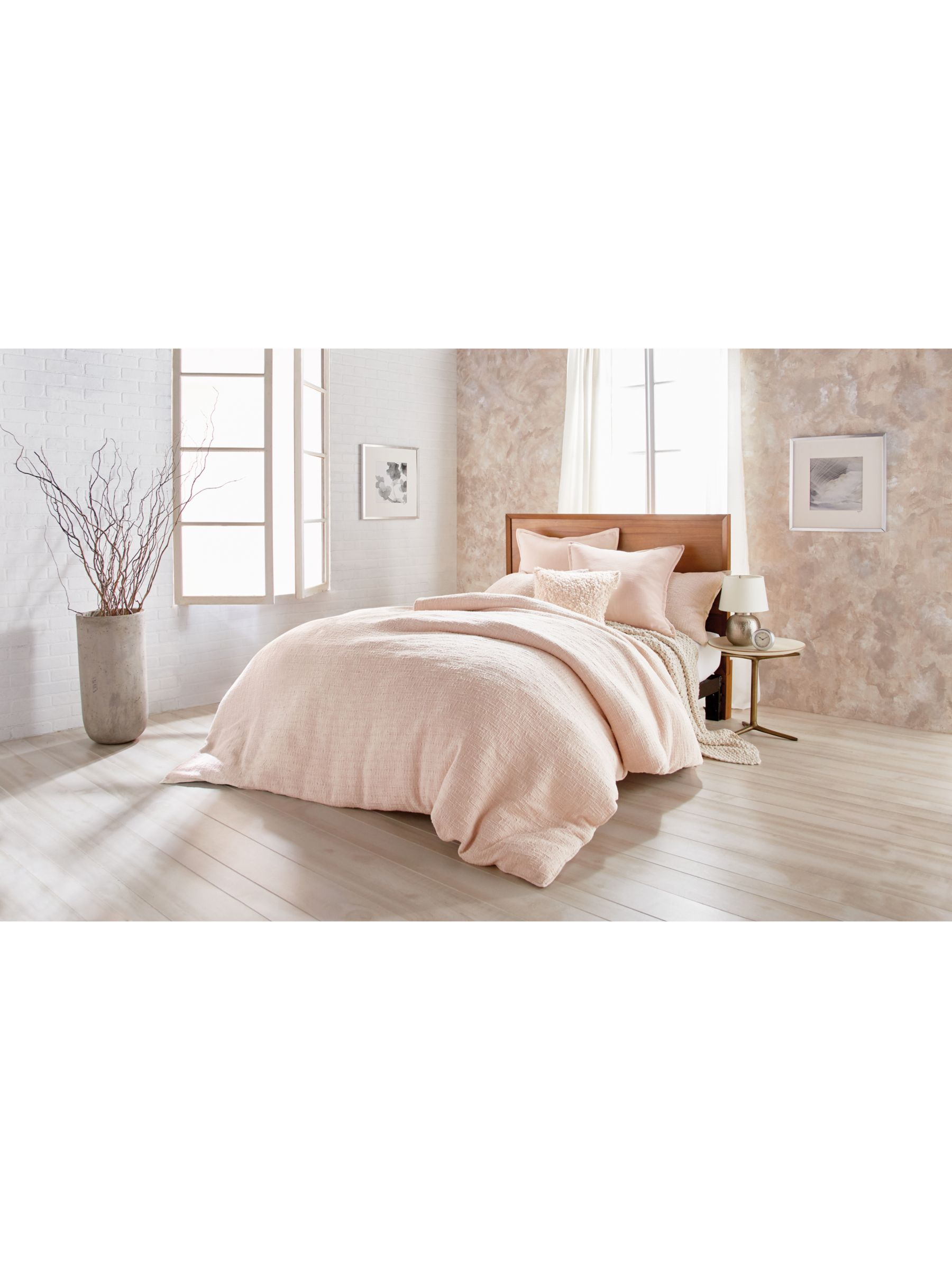 Dkny Texture Blush Bedding At John Lewis Partners