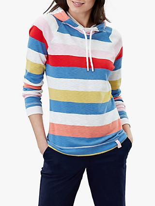 Joules Marlston Wide Stripe Sweatshirt Hoodie, Multi