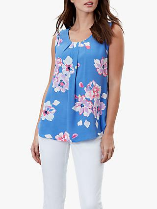 Joules Alyse Sleeveless Top, Blue Floral