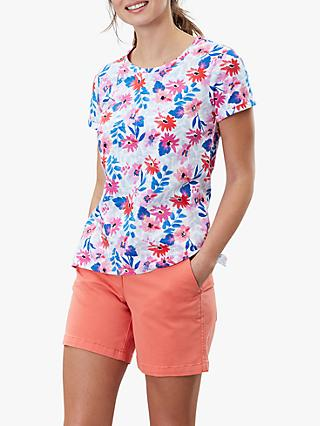Joules Nessa Floral T-Shirt, White/Multi