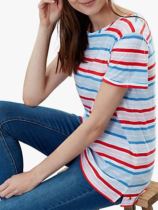 Joules Nessa Stripe Jersey T-Shirt, Red/Multi