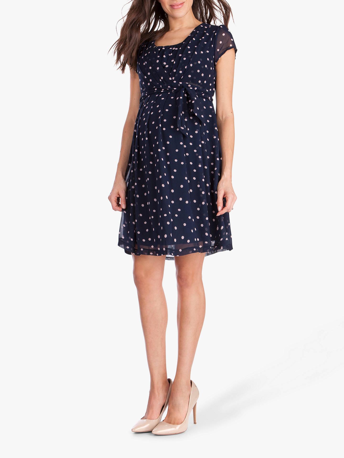 ac5bf6520dcab Buy Séraphine Jodie Tie Waist Maternity Nursing Dress, Blue Dot, 14 Online  at johnlewis ...