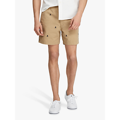 Polo Ralph Lauren Skull & Crossbones Prep Shorts, Luxury Tan/Skull