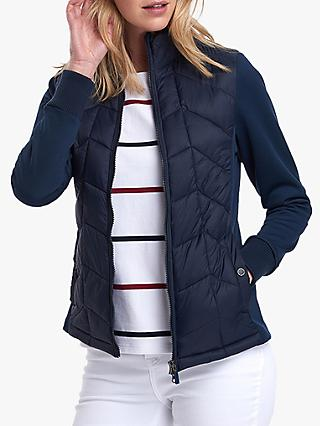 1438b4cf4 Barbour Winifred Zip Up Sweat Padded Jacket, Navy