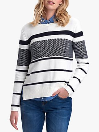 Barbour Paddle Stripe Jumper, Off White