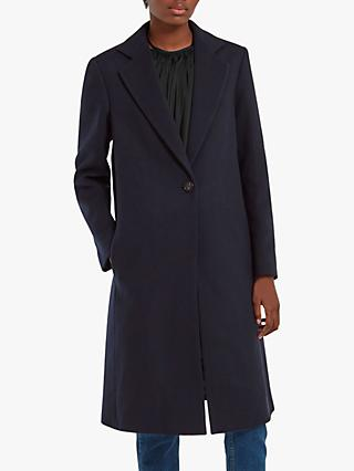 Mulberry Caggie Wool Rich Coat, Midnight