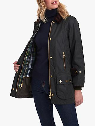 7c688db643e68 Barbour Beaufort Waxed Jacket, Sage