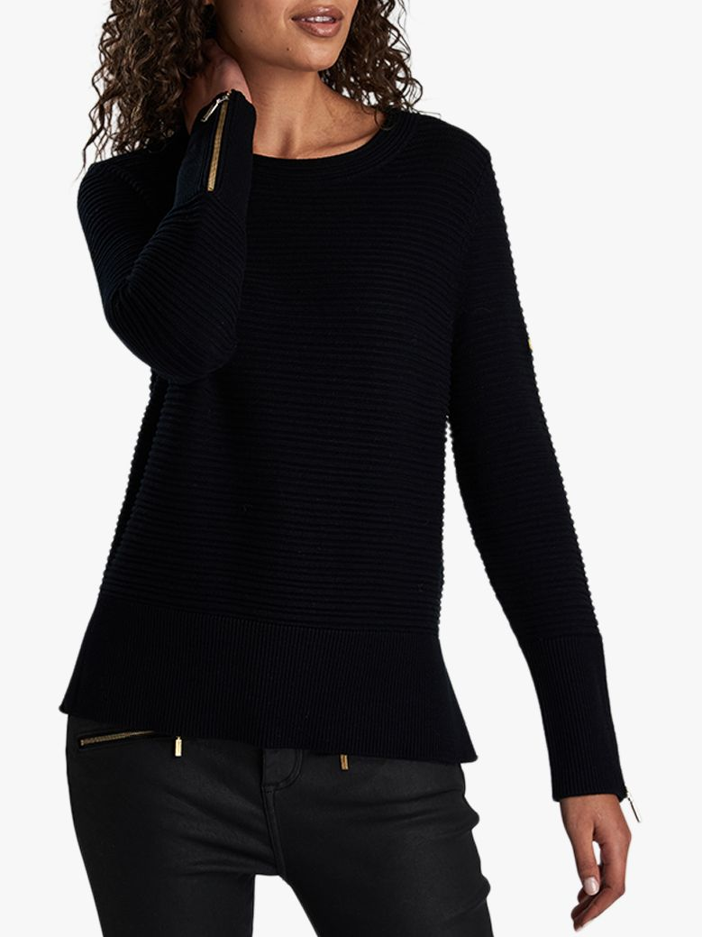 modern techniques big selection newest style of Barbour International Garrow Ottoman Stitch Jumper at John ...