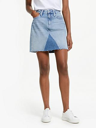 075041c90e Calvin Klein Jeans Denim Mini Skirt, Light Blue