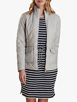 Barbour Helm Quilted Jacket, Ice White