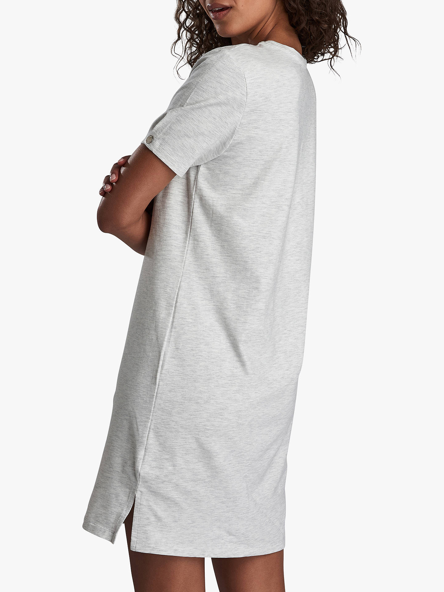 Buy Barbour International Morzine Logo T-Shirt Dress, Pale Marl Grey, 10 Online at johnlewis.com