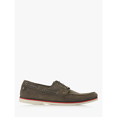 Bertie Battleship Leather Boat Shoes, Grey