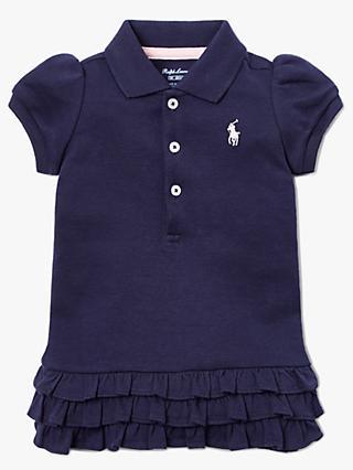 6342da9fd57 Polo Ralph Lauren Baby Ruffle Hem Dress and Bloomer Set