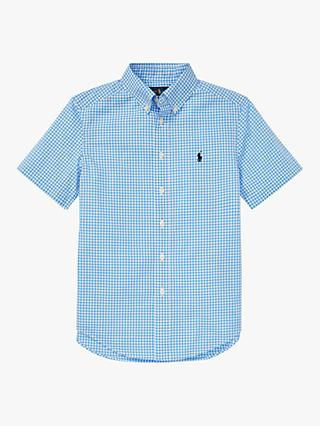 Polo Ralph Lauren Boys' Gingham Shirt, Blue