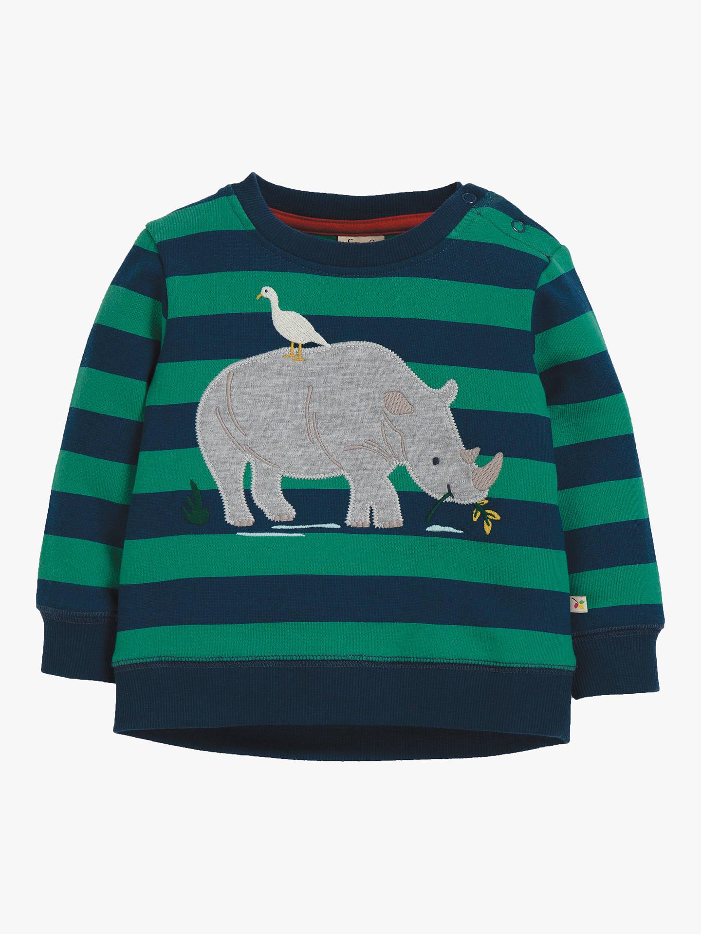 Joules orange and white rhino print t-shirt age 3-4