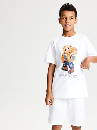 Polo Ralph Lauren Boys' Bear Print T-Shirt, White
