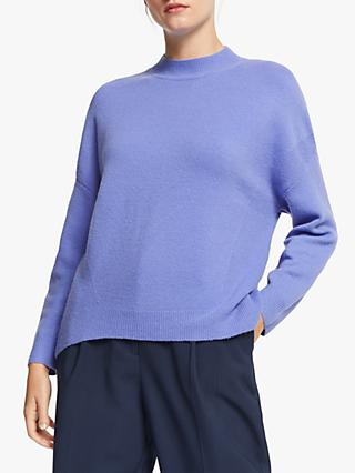 John Lewis & Partners High Neck Relaxed Crew Neck Jumper