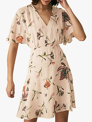 Reiss Ruby Floral Dress, White