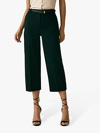 86c351e7e Reiss Faith Cropped Tailored Trousers, Dark Green