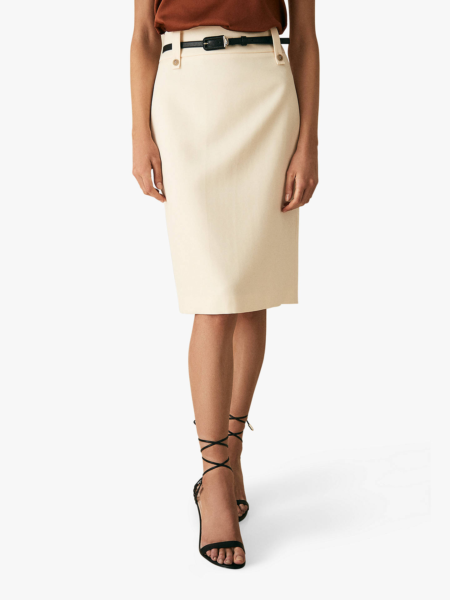4e96c12d4d Buy Reiss Lennox Pencil Skirt, Off White, 6 Online at johnlewis.com ...